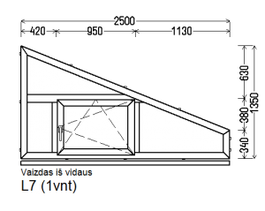 Schuko (3 kam.) langas