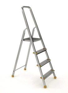 Buitinės kopėčios su aikštele (aliuminės)